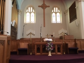 New microphones & speakers in the choir loft.
